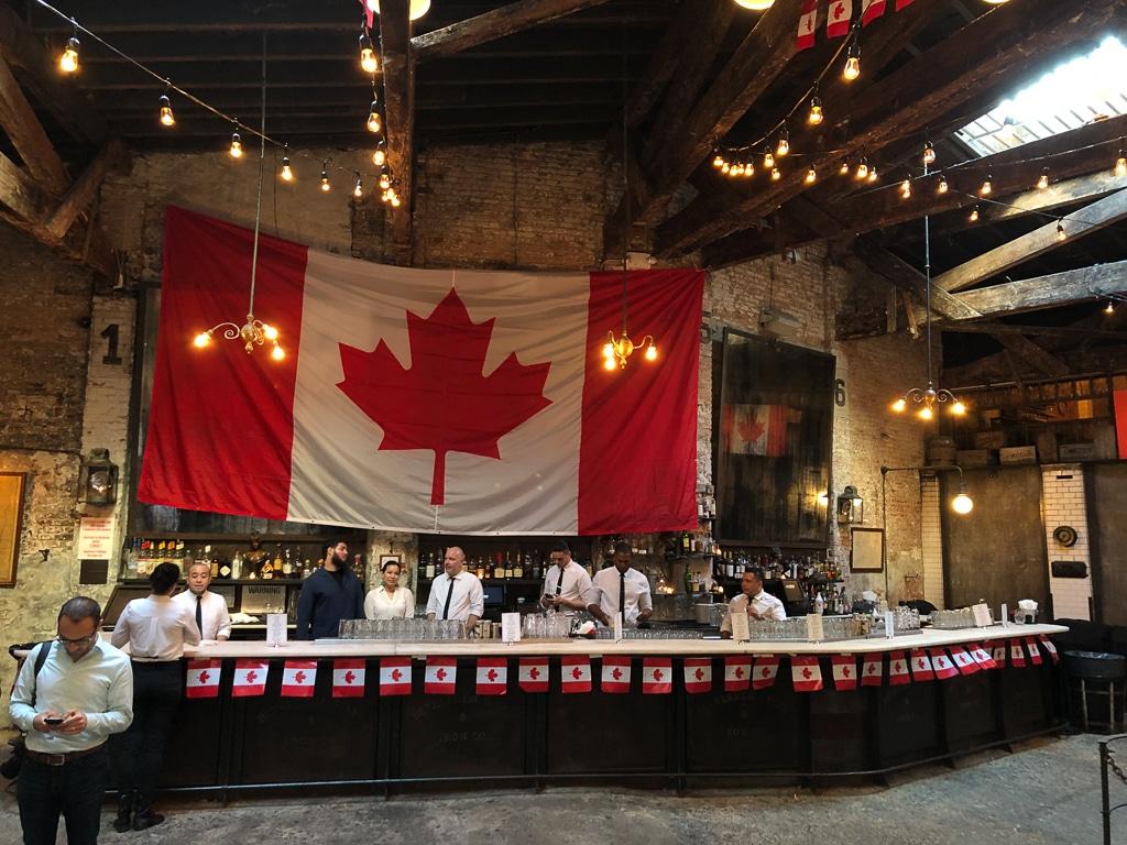 Houston Hall Bar with Flag