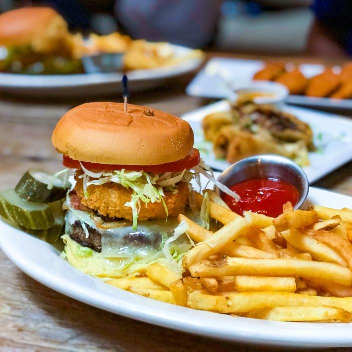 Houston Hall Burger Royale